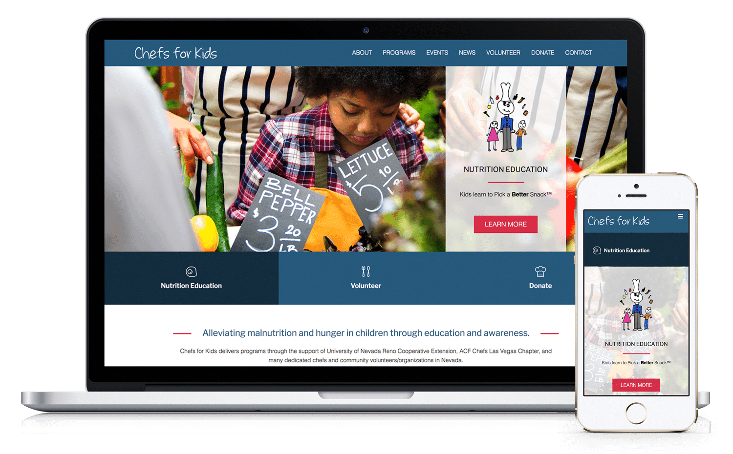 Chefs For Kids Website By Caffeinated Web Studio