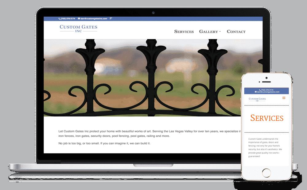 Custom Gates Inc Las Vegas Website by Caffeinated Web Studio
