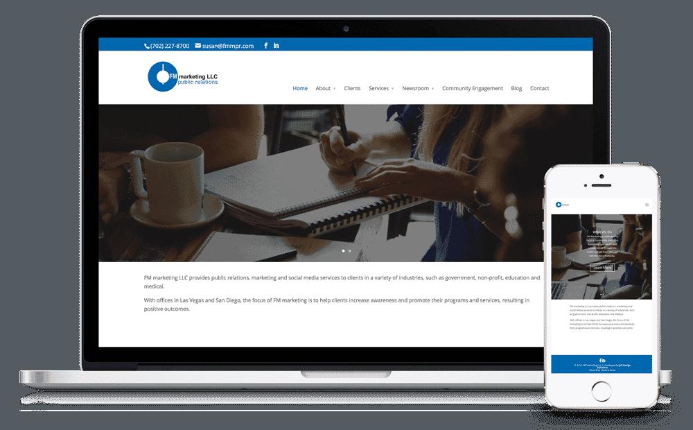 FM Marketing LLC Website by Caffeinated Web Studio