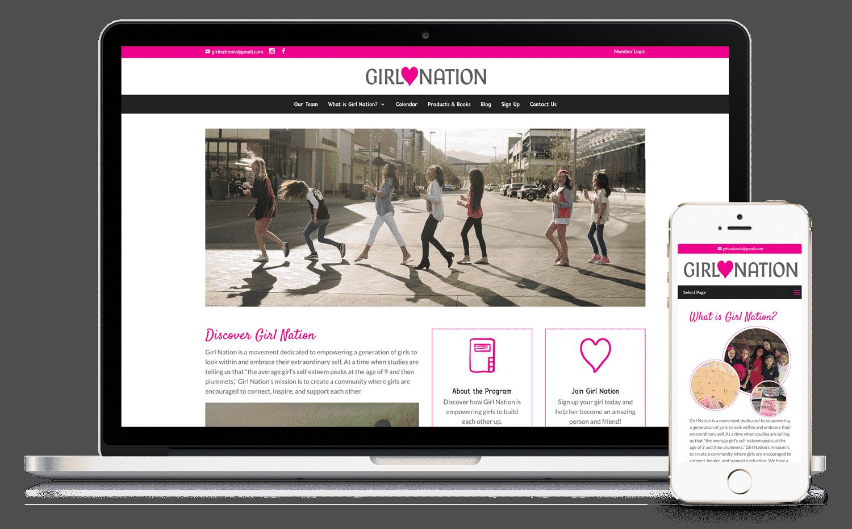 Girl Nation Las Vegas Website by Caffeinated Web Studio